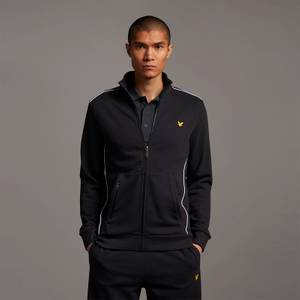 Track Jacket with Contrast Piping - True Black