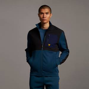 Overlay Midlayer with Chest Pocket - Aegean Blue