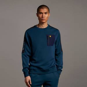 Overlay Crew with Chest Pocket - Aegean Blue