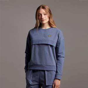 Canvas Mix Sweatshirt - Nightshade Blue