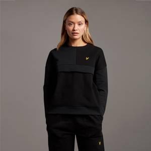 Canvas Mix Sweatshirt - Jet Black