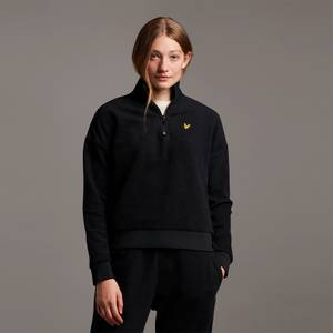 Soft Touch Brushed 1/4 Zip Sweatshirt - Jet Black