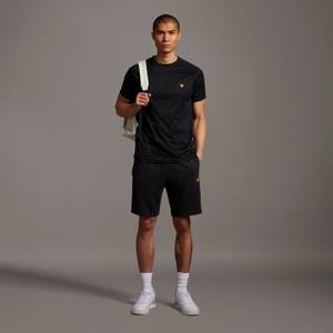 Sweat Short With Contrast Piping - True Black