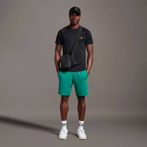 Sweat Short With Contrast Piping - Pine Green