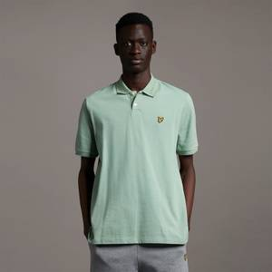 Branded Ringer Polo - Fern Green