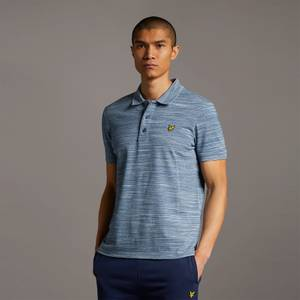 Space Dye Polo Shirt - Slate Blue