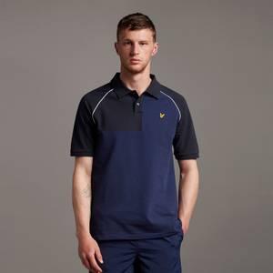 Contrast Panel Polo Shirt - Navy