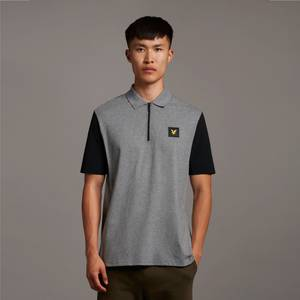 Casuals Contrast Sleeve Polo Shirt - Mid Grey Marl
