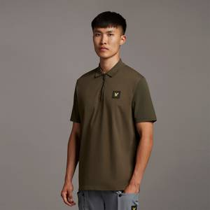Casuals Contrast Sleeve Polo Shirt - Olive