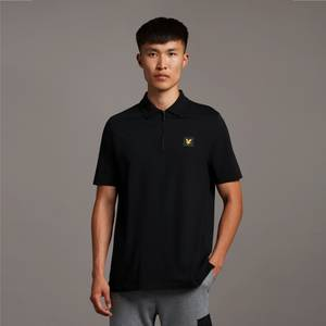 Casuals Contrast Sleeve Polo Shirt - Jet Black
