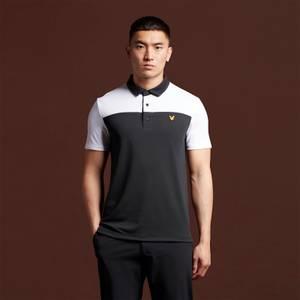 Polo Shirt with Back Branding - True Black