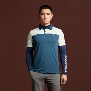 Polo Shirt with Back Branding - Aegean Blue