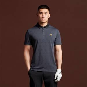 Jacquard Polo Shirt - True Black