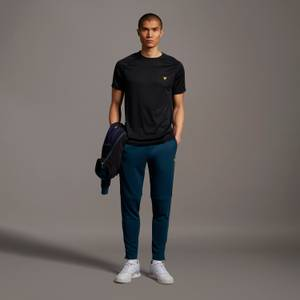 Trackies with Woven Overlay - Aegean Blue