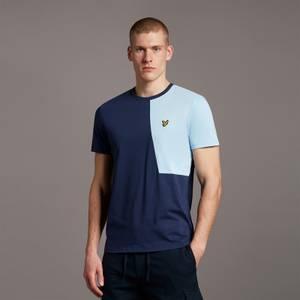 Cut and Sew T-Shirt - Navy/ Fresh Blue