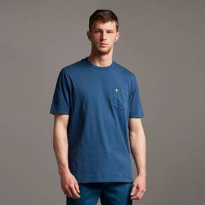 Washed Relaxed Pocket T-Shirt - Navy