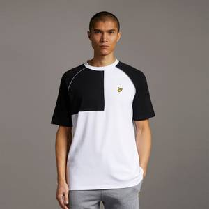 Contrast Panel T-shirt - White