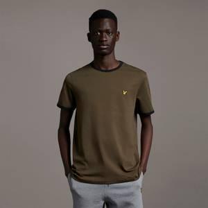Ringer T-Shirt - Olive/ Jet Black