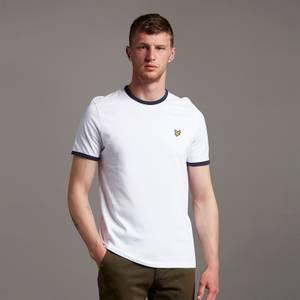 Ringer T-Shirt - White/ Navy