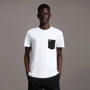 Contrast Pocket T-Shirt - White/ Jet Black