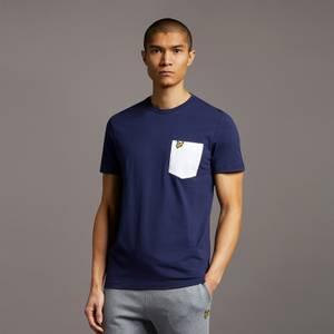 Contrast Pocket T-Shirt - Navy/White