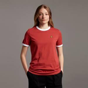 Ringer T-shirt - Chilli Red