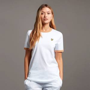 Ringer T-shirt - White/Tan
