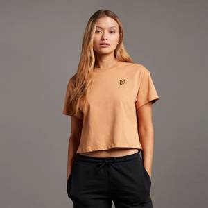 Cropped T-shirt - Tan