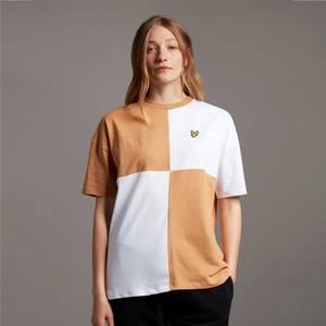 Patchwork T-Shirt - White/Tan