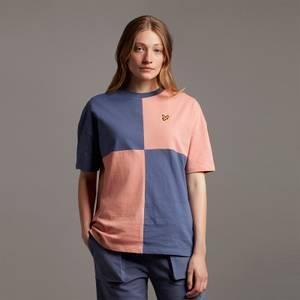 Patchwork T-Shirt - Warm Rose/Nightshade Blue