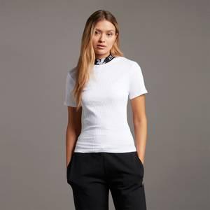 Branded Collar T-shirt - White