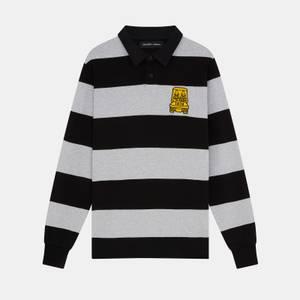 Golfickers Rugby Shirt - Jet Black/ Light Grey Marl