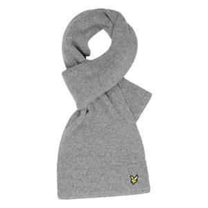 Racked rib scarf - Mid Grey Marl