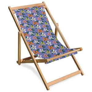 Floral Summer Deck Chair
