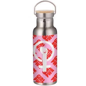 Feminist Girl Power Symbol Portable Insulated Water Bottle - White