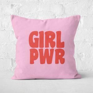 Feminist Girl Pwr Square Cushion