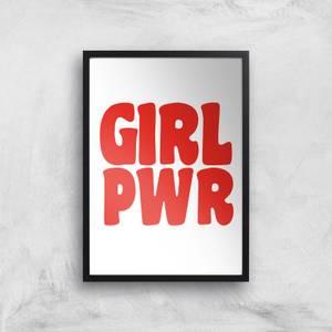Feminist Girl Pwr Giclee Art Print