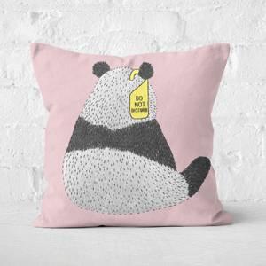 Do Not Disturb Panda Square Cushion