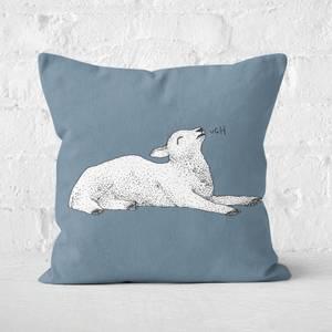 Exasperated Lamb Square Cushion