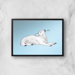 Exasperated Lamb Giclee Art Print