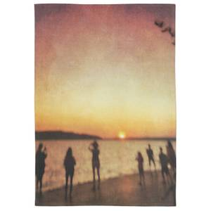 Sunset On The Coast Cotton Tea Towel - White