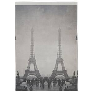 Eiffel Glitch Cotton Tea Towel - White