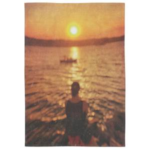The Sun Is Setting For Us Cotton Tea Towel - White