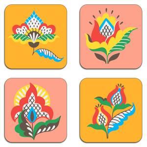 Companionable Flowers Coaster Set