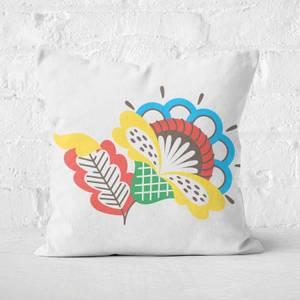 Rustic Flower Square Cushion