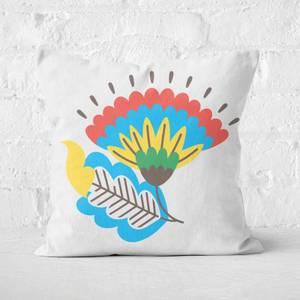 Sociable Flower Square Cushion