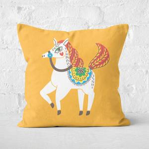 Sophisticated Horse Square Cushion