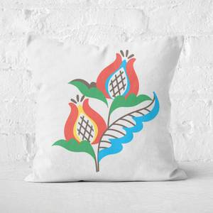 Homely Flower Square Cushion