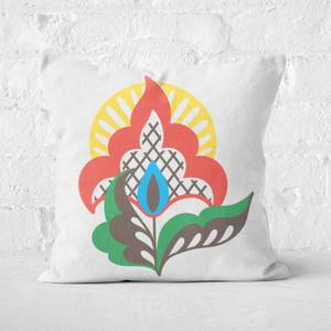 Plain Flower Square Cushion