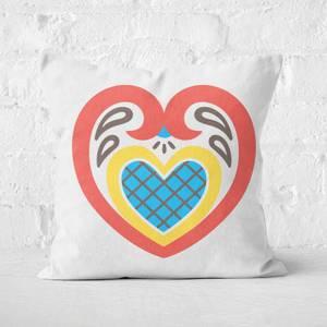 Inelaborate Heart Square Cushion